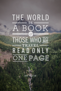 books versus actual travel